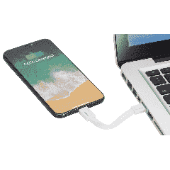 Patch Phone Stand with 2-in-1 Cable