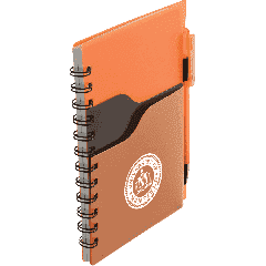 """5"""" x 7"""" Valley Spiral Notebook With Pen"""