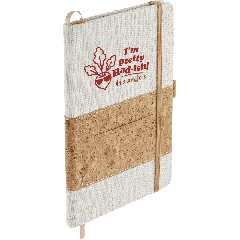 """5.5"""" x 8.5"""" Recycled Cotton and Cork Bound Noteboo"""
