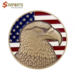 Soft Enamel Brass Coin (Simports)