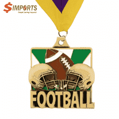 Soft Enamel Brass Medal (Simports)