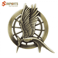 Zinc Alloy Made Plating Lapel Pins (Simports)