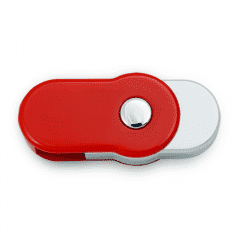 Winfield Rounded Red Swivel USB