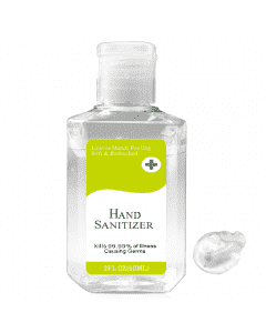 Quickship 2 oz Rectangle 75% Alcohol Hand Sanitizer